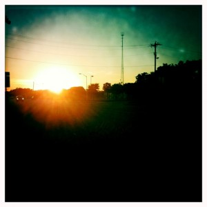 10.04.10 Jogging into the sunset.