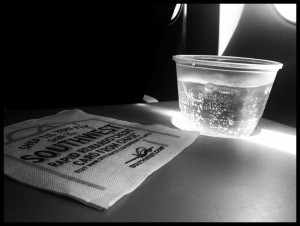 Gingerale inflight.