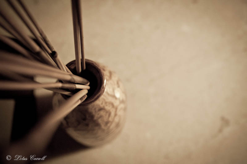 bottle of bamboo sticks