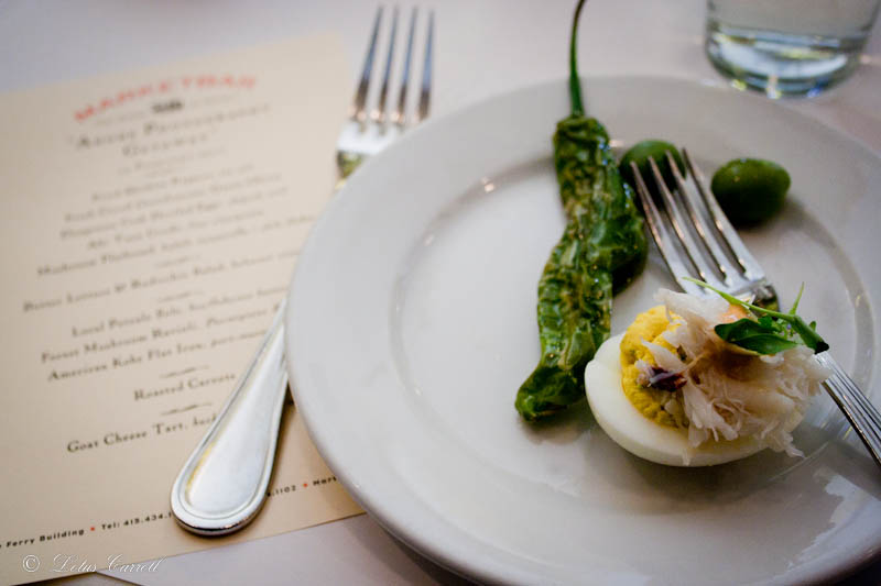 jalapeno, olives, deviled egg, brunch, marketbar, san francisco