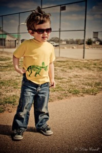 Cook kid at the park.