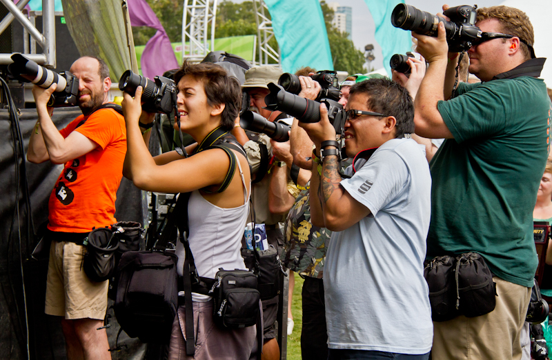 Photographers at Austin City Limits Music Festival 2011