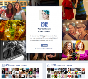 Lotus Carroll Facebook 2012 Year In Review