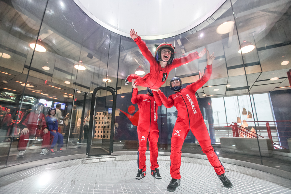 Braden in the Wind Tunnel at iFly Austin