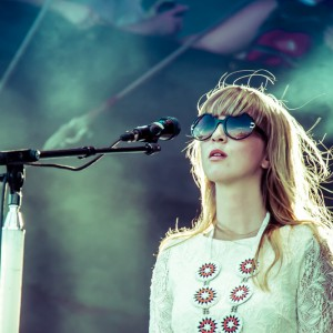 Laura Burhenn performs with Bright Eyes, ACL Festival 2011