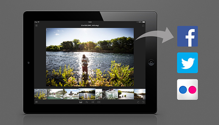 lightroom mobile social sharing